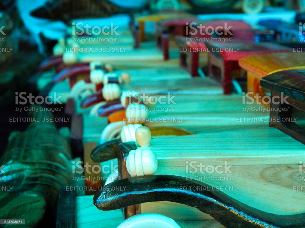 handmade wooden toy vintage cars stock photo
