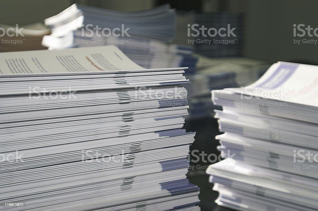 Handout Paper Piles stock photo