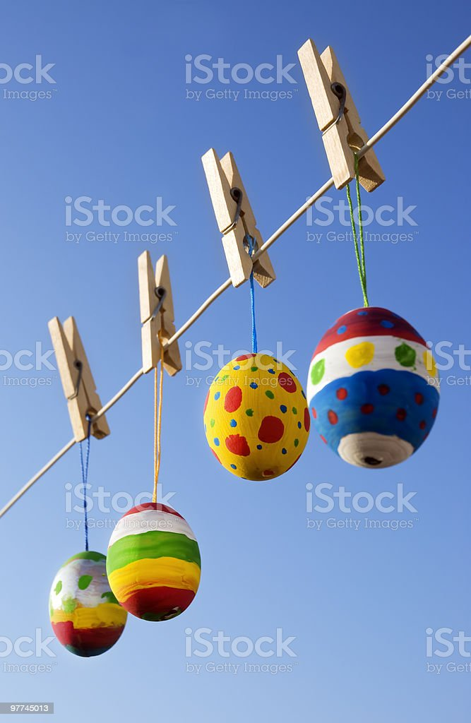 Handpainted easter eggs royalty-free stock photo