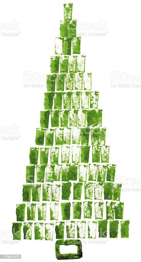 Handpainted fir royalty-free stock photo