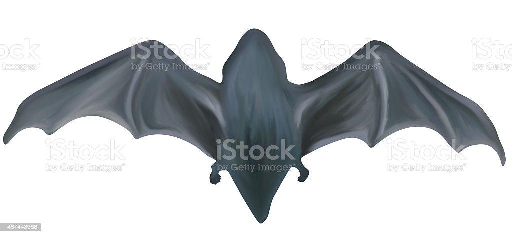 Hand-painted halloween bat stock photo
