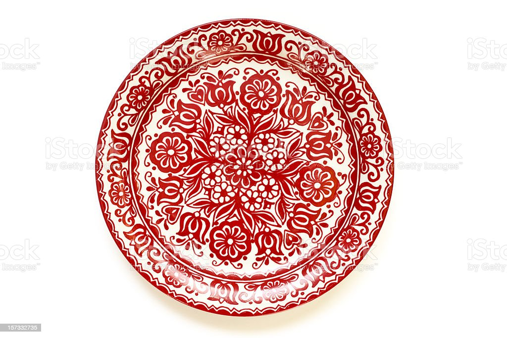 Hand-painted Hungarian Plate stock photo