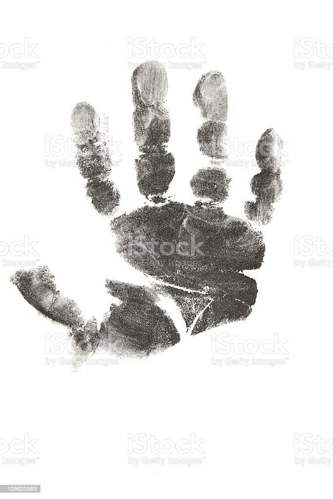 Handprint from newborn baby royalty-free stock photo