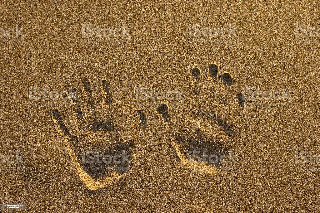 Handprint stock photo