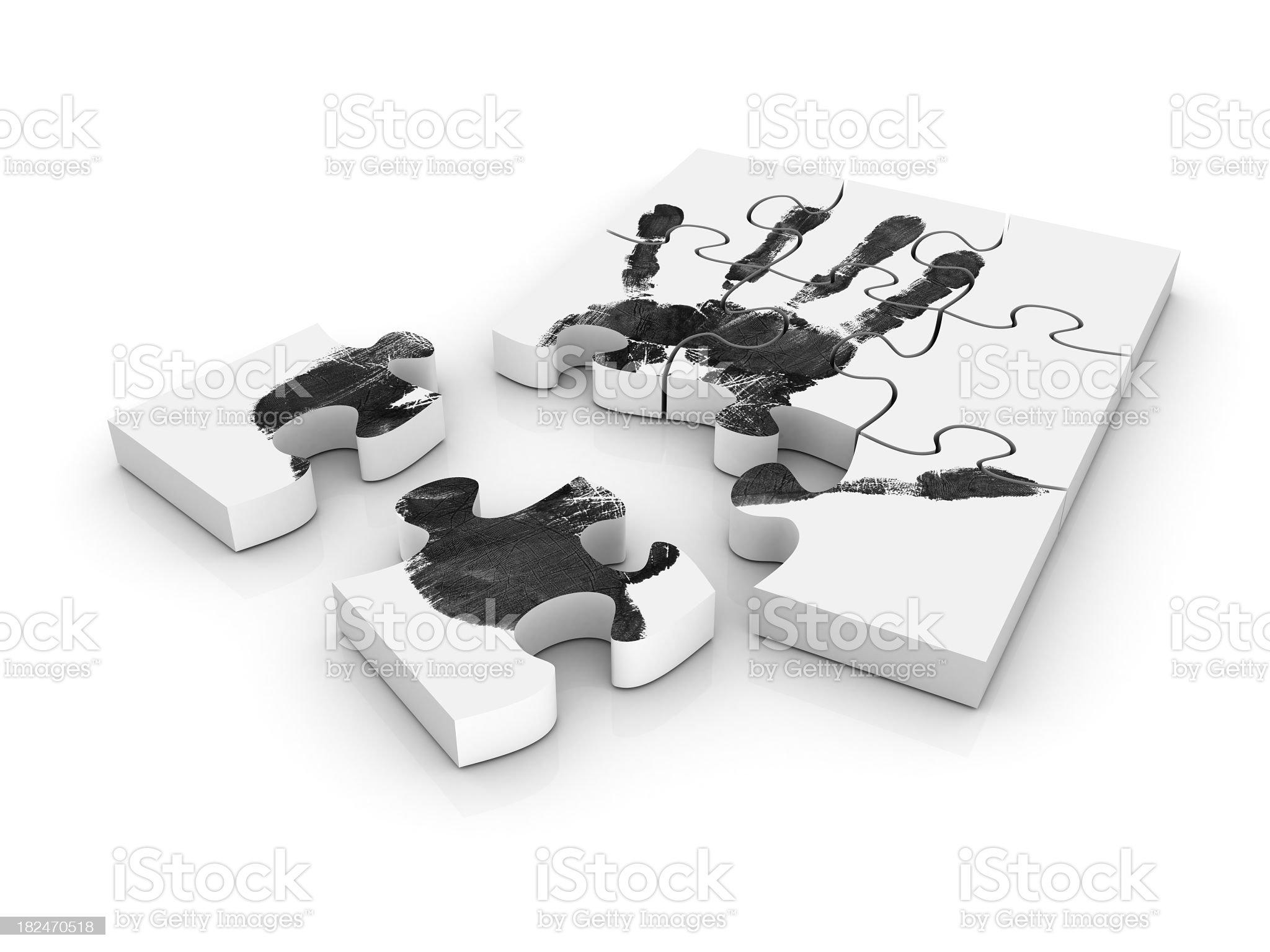 Handprint Puzzle royalty-free stock photo