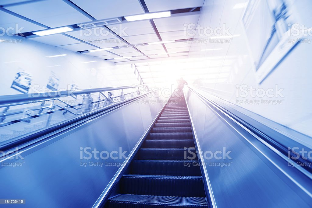 Handrail elevator royalty-free stock photo