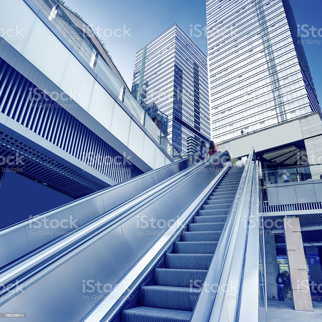 Handrail elevator royalty-free stock photo
