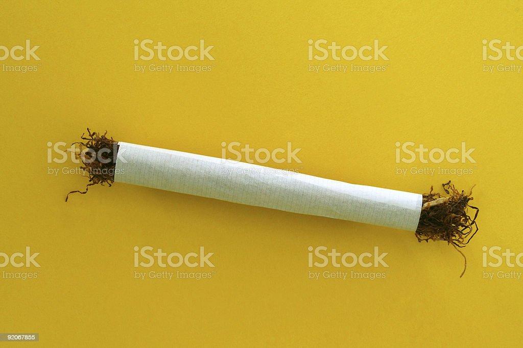 Handrolled cigarette stock photo