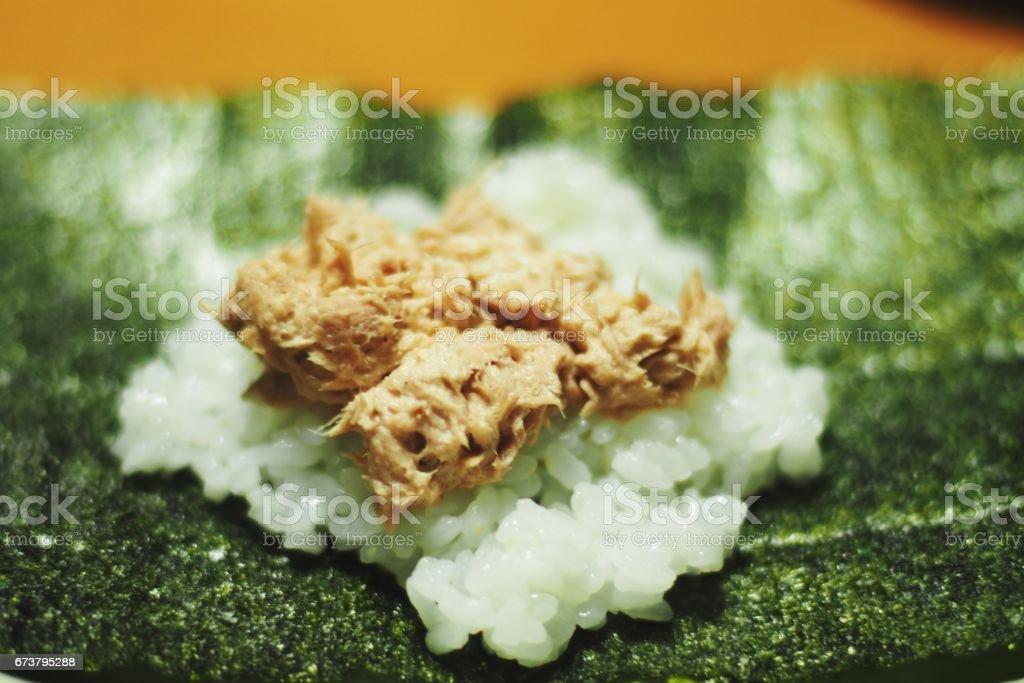Hand-rolled sushi,Japanese food stock photo