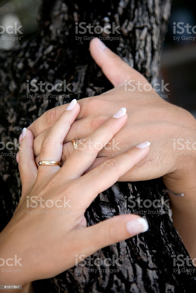 hands & rings stock photo