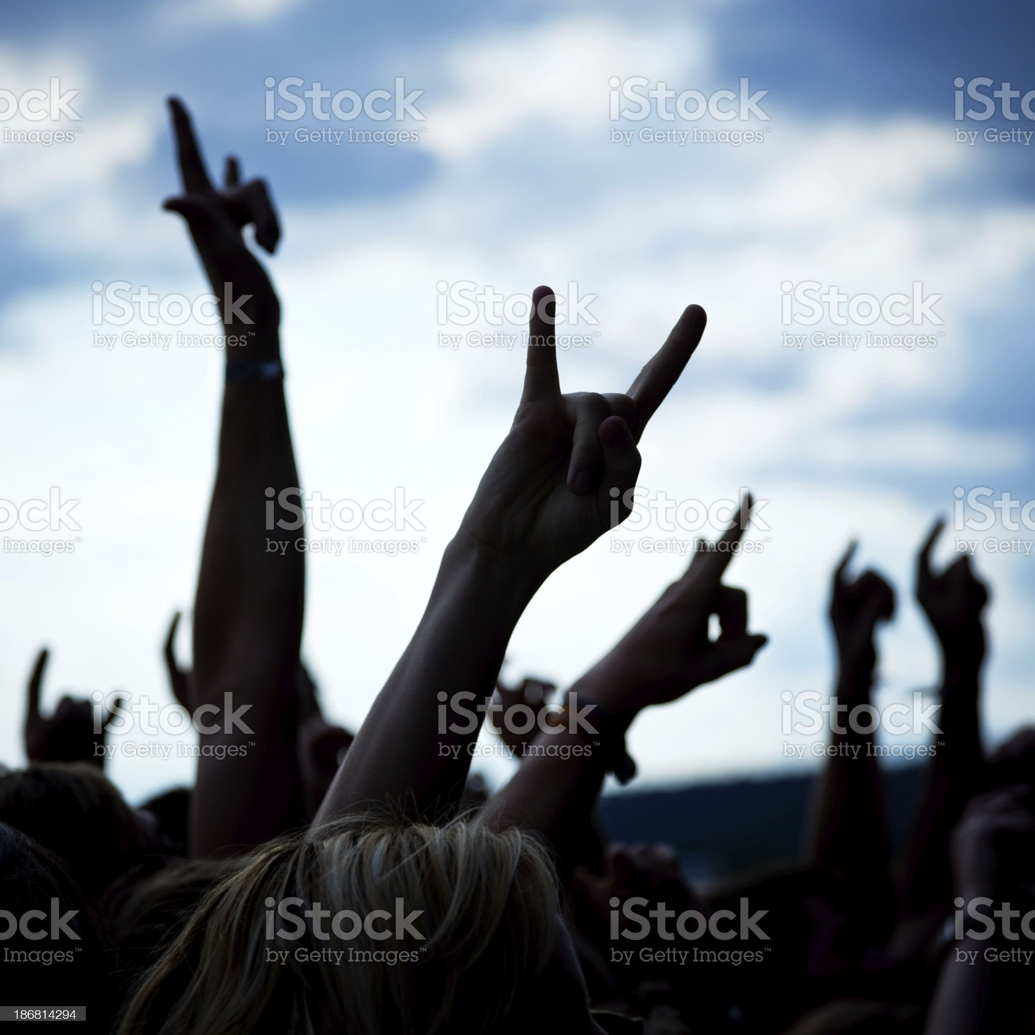 hands and arms Silhouettes royalty-free stock photo