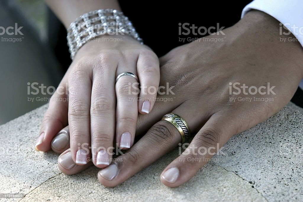 Hands and Bands royalty-free stock photo