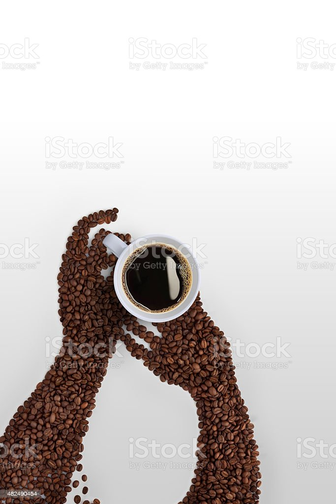 Hands and coffee. stock photo