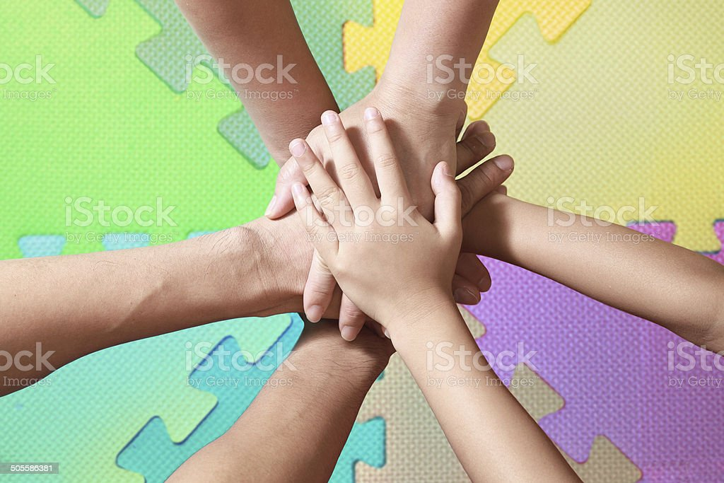hands and cooperation stock photo