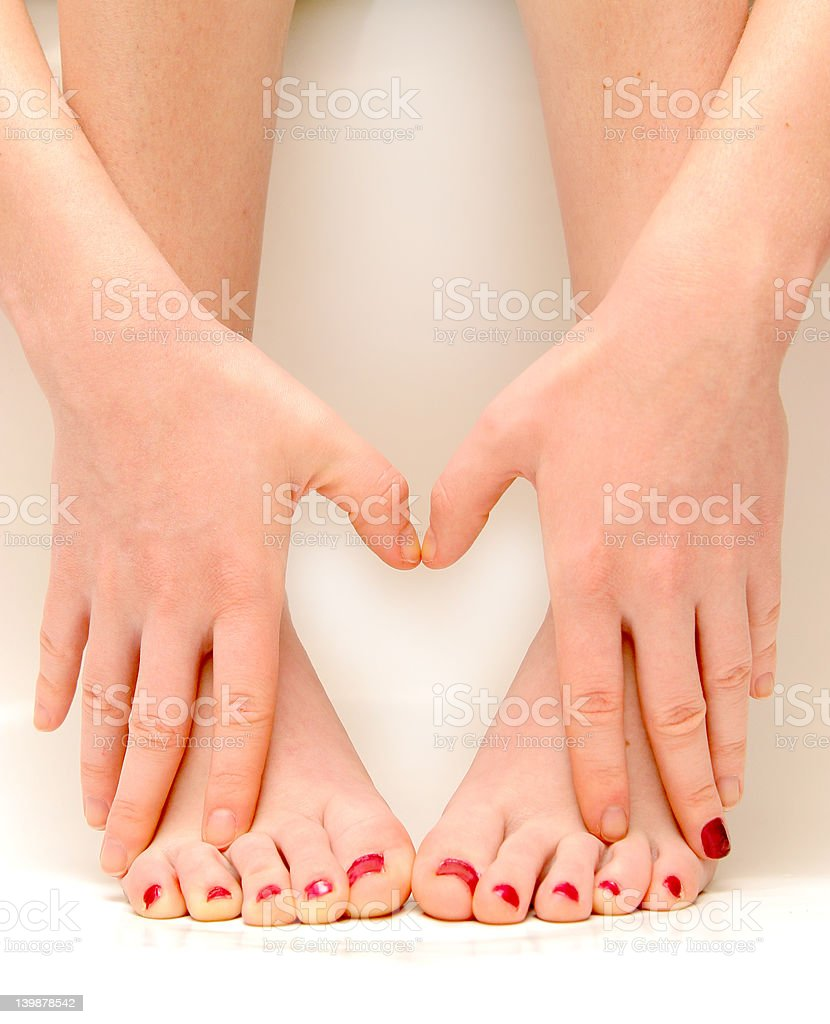 hands and feet love royalty-free stock photo