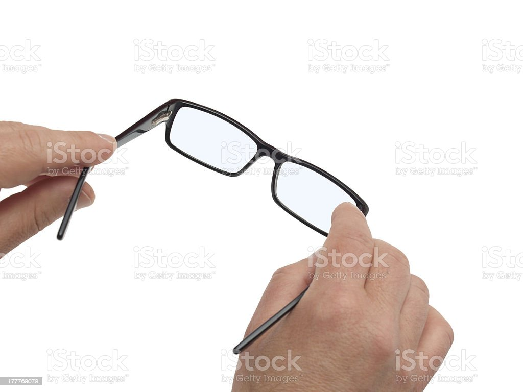 hands and glasses stock photo