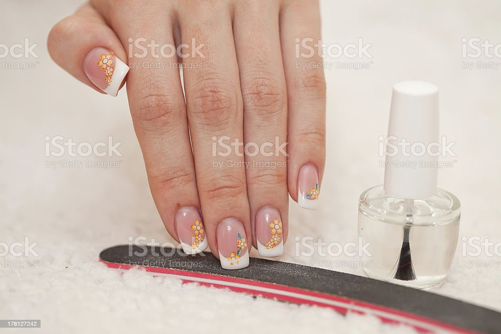 hands and manicure royalty-free stock photo
