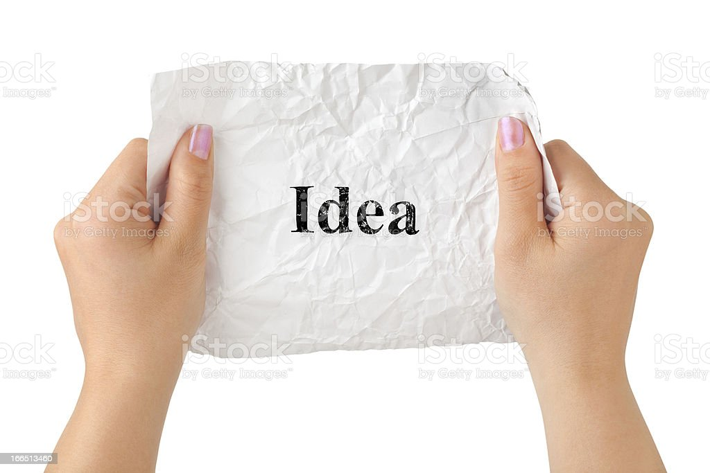 Hands and paper Idea royalty-free stock photo