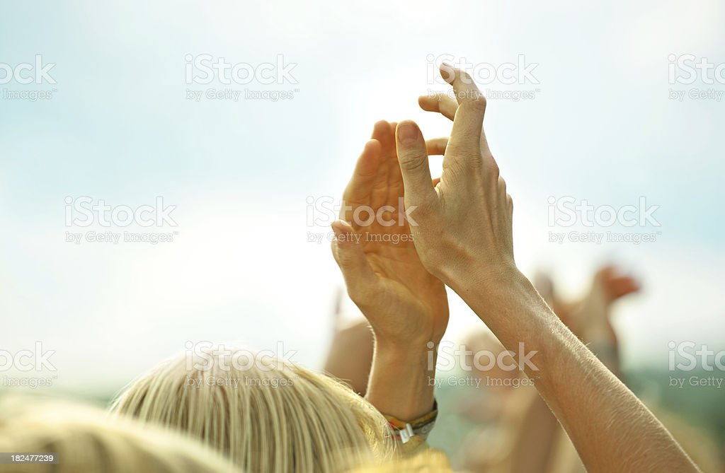 Hands Applauding royalty-free stock photo