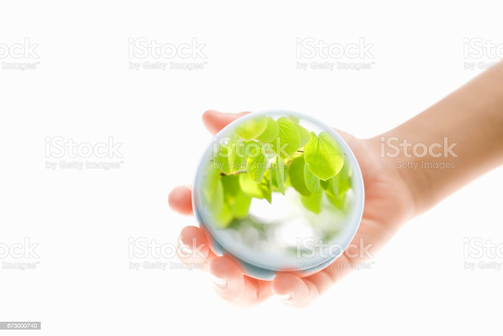 Hands around the world stock photo