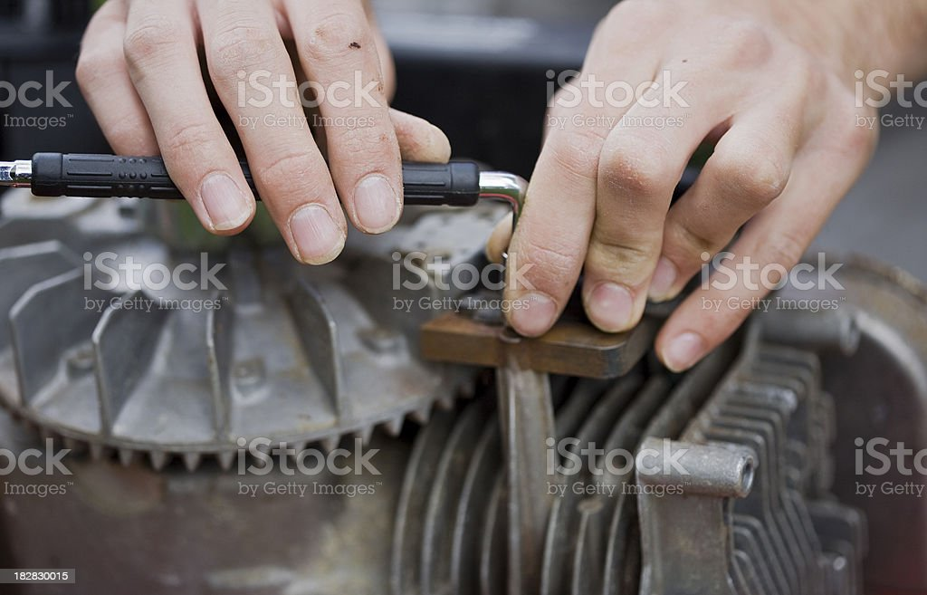 Hands at work royalty-free stock photo