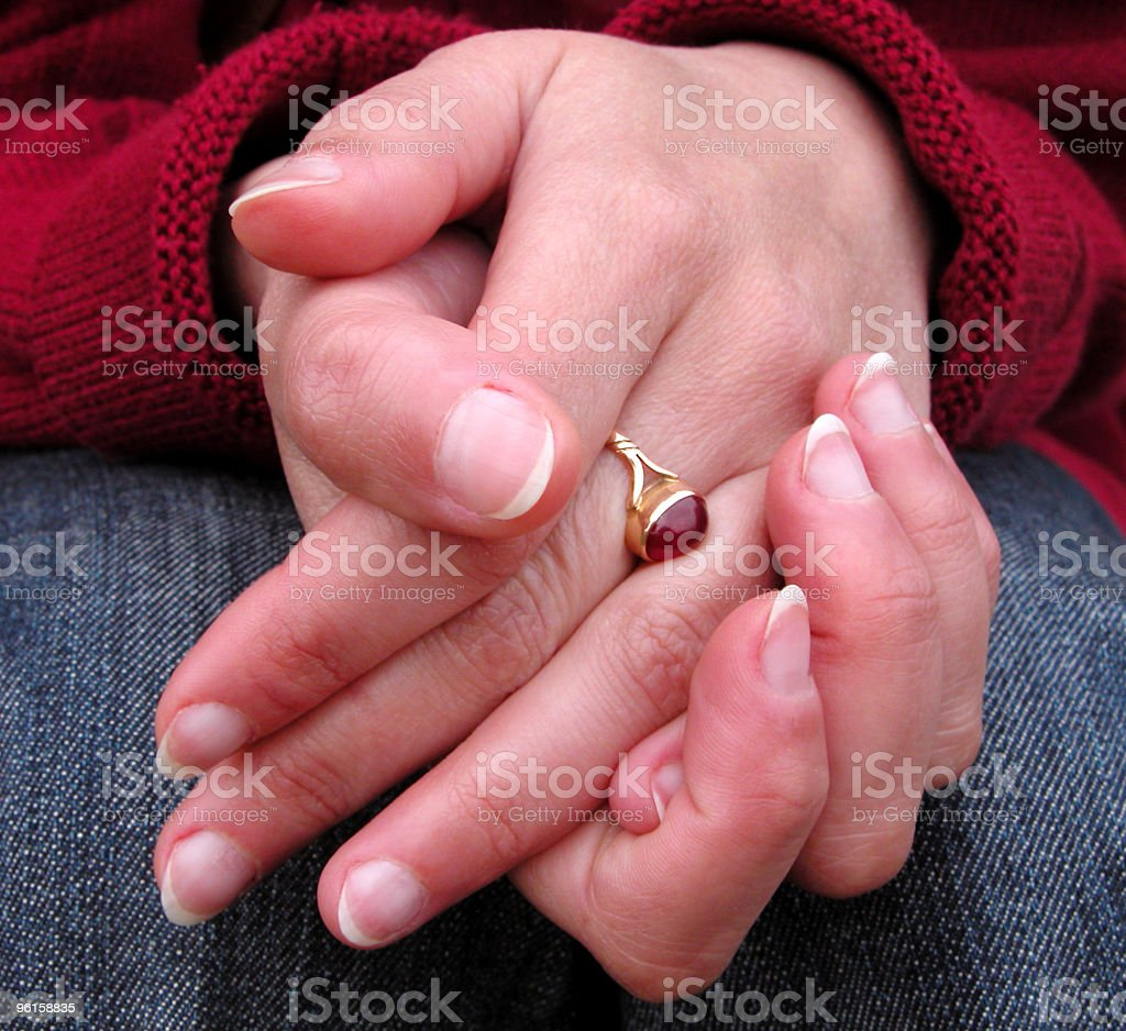 Hands attitude royalty-free stock photo