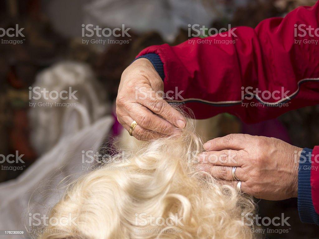 Hands barber pastizhera royalty-free stock photo