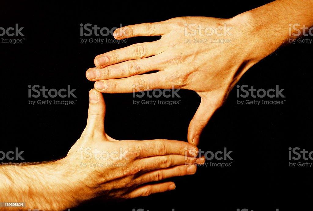 Hands Box royalty-free stock photo