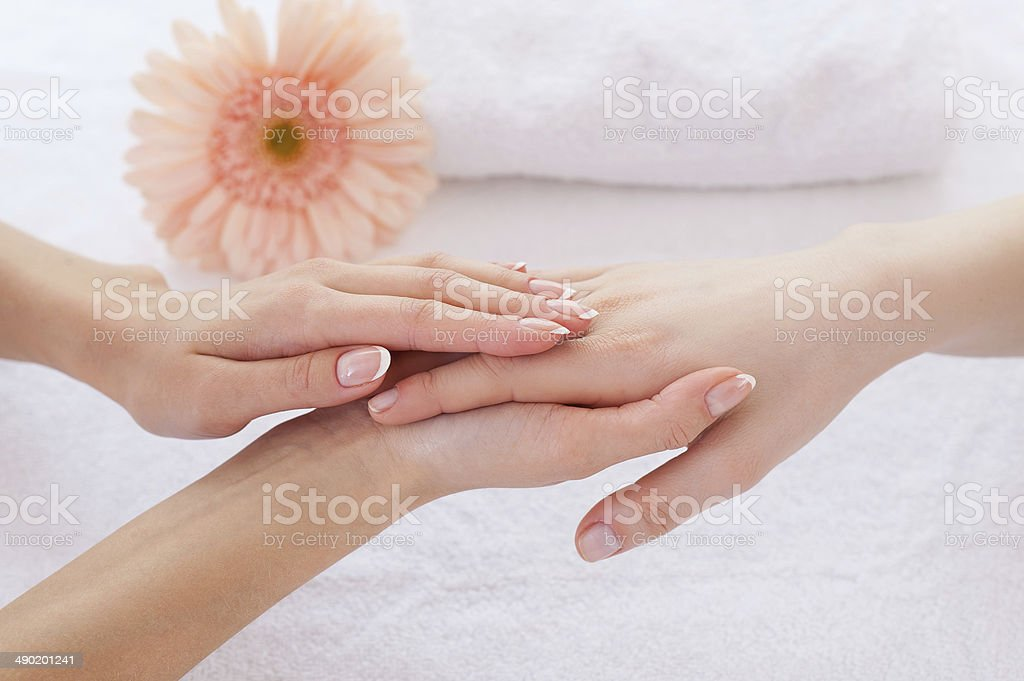 Hands care. stock photo