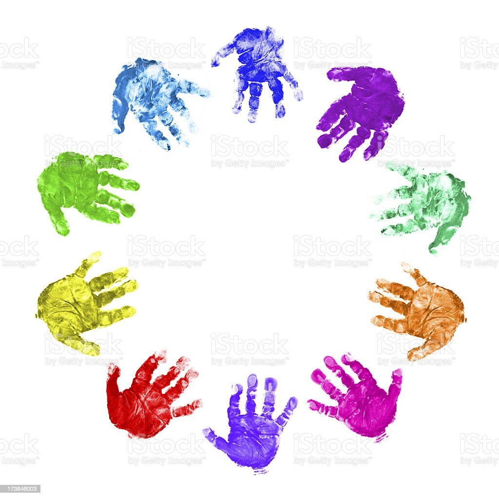 Hands Circle royalty-free stock photo