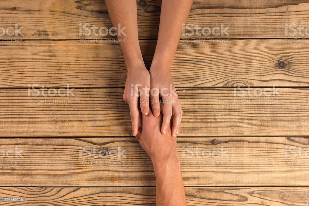 Hands close-up stock photo