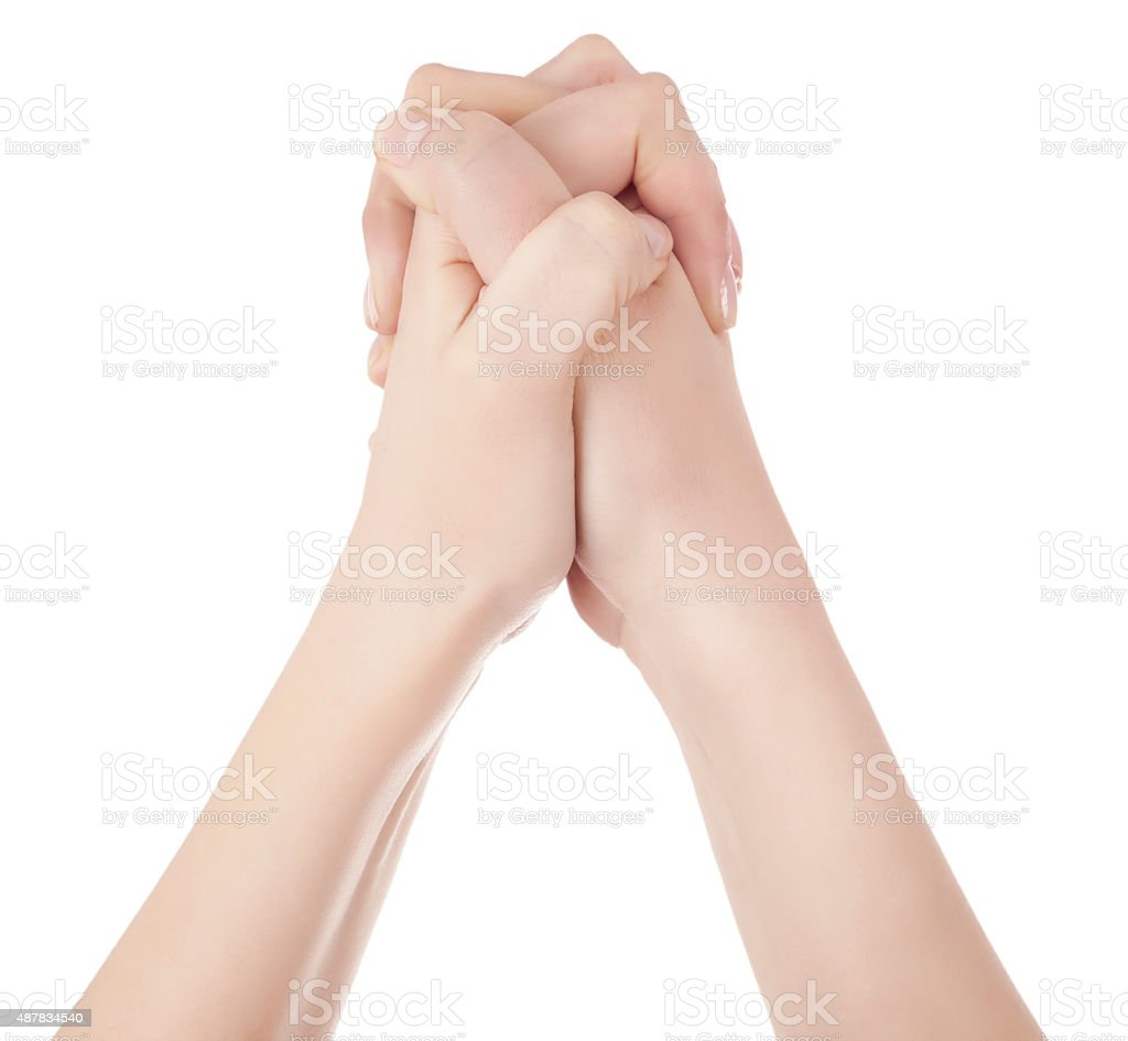 hands congratulating stock photo