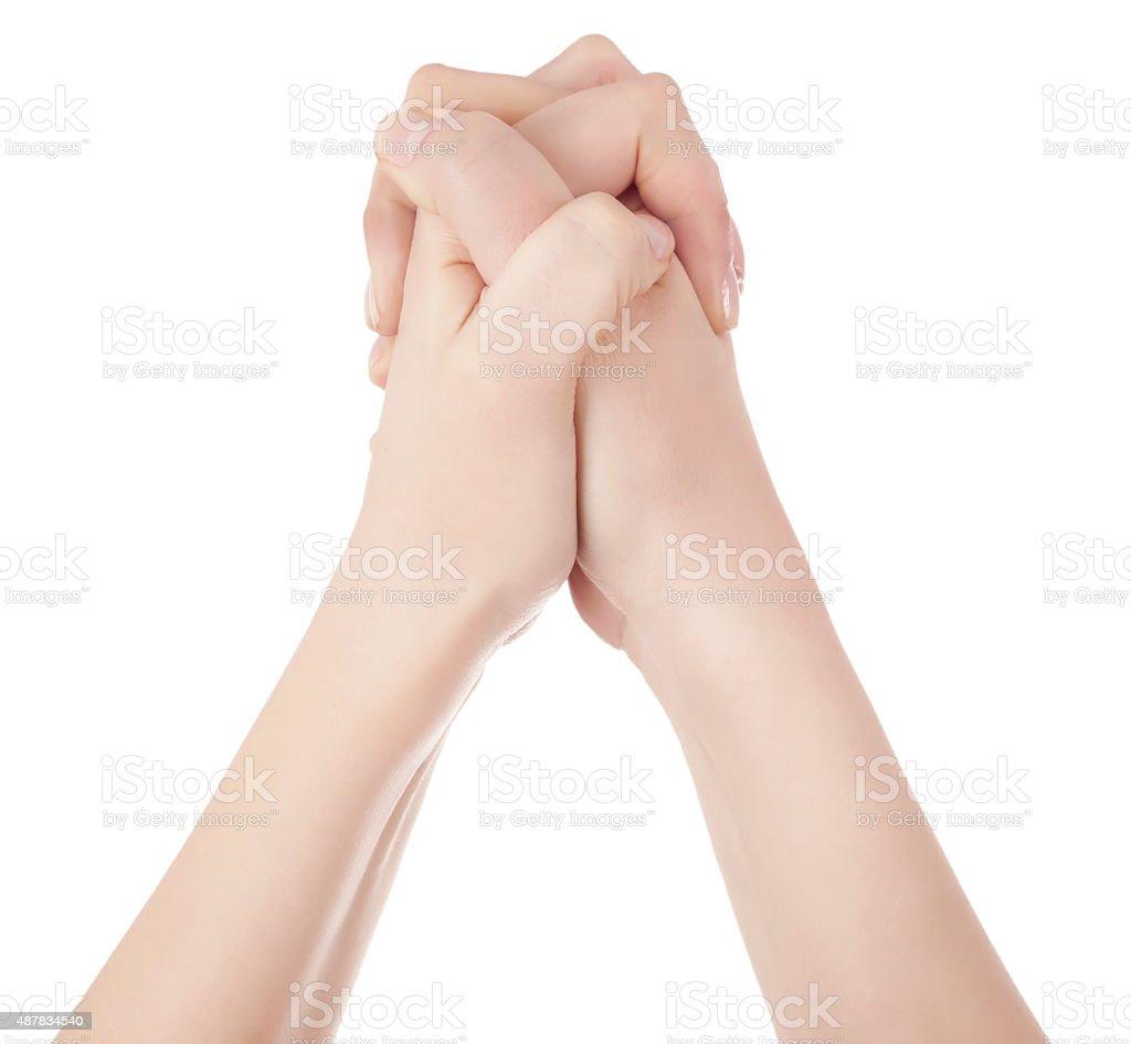 hands congratulating stock photo