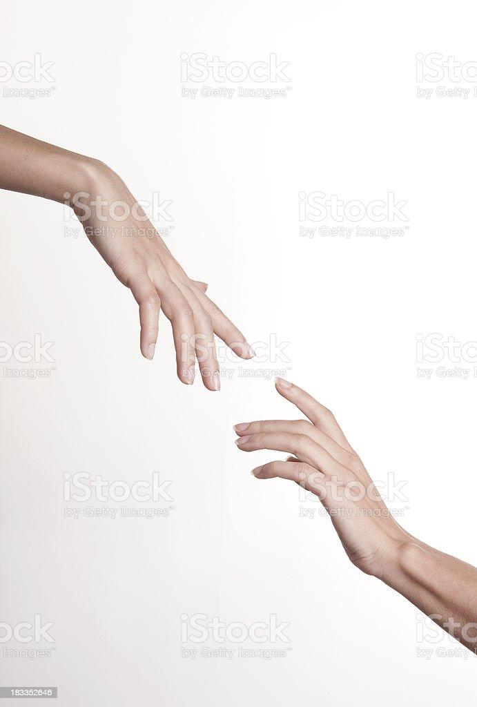 hands: Creation Of Adam stock photo