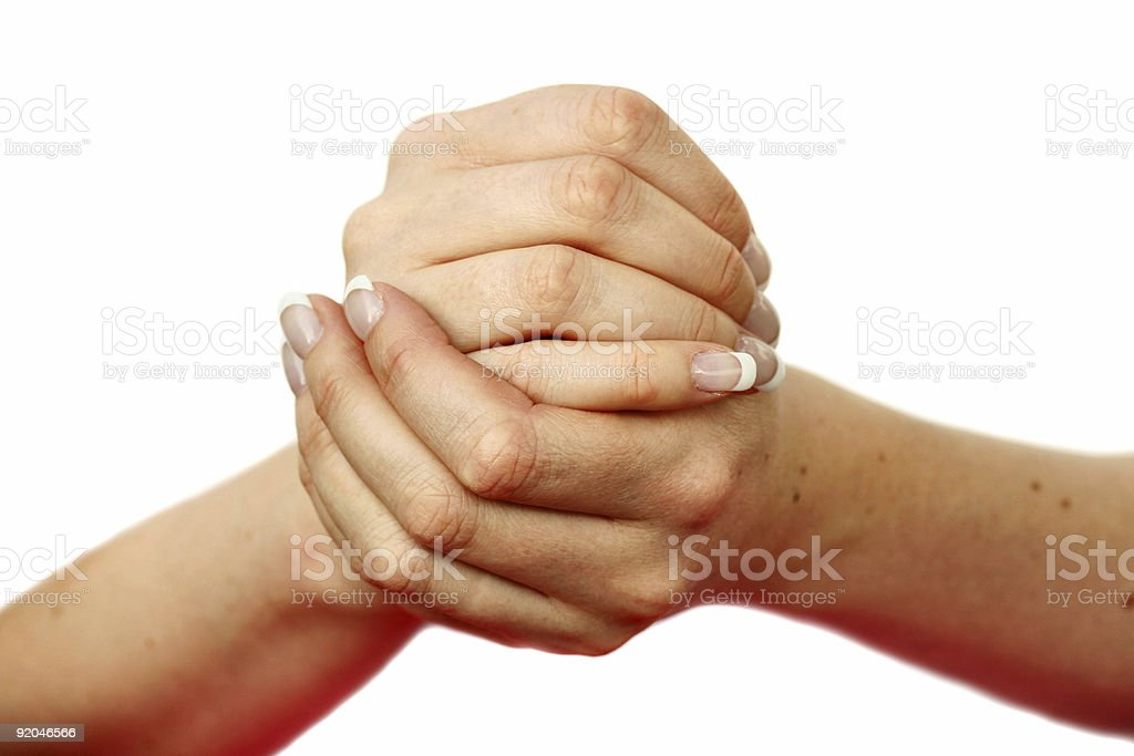 Hands depicting many gestures royalty-free stock photo