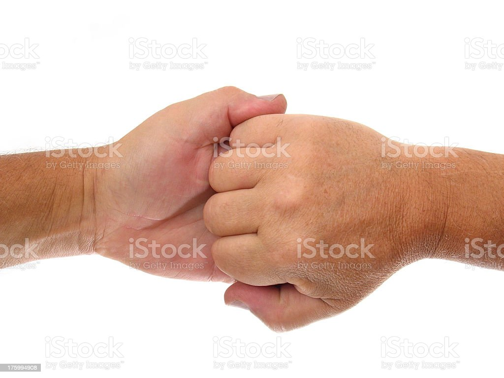 Hands Duel royalty-free stock photo