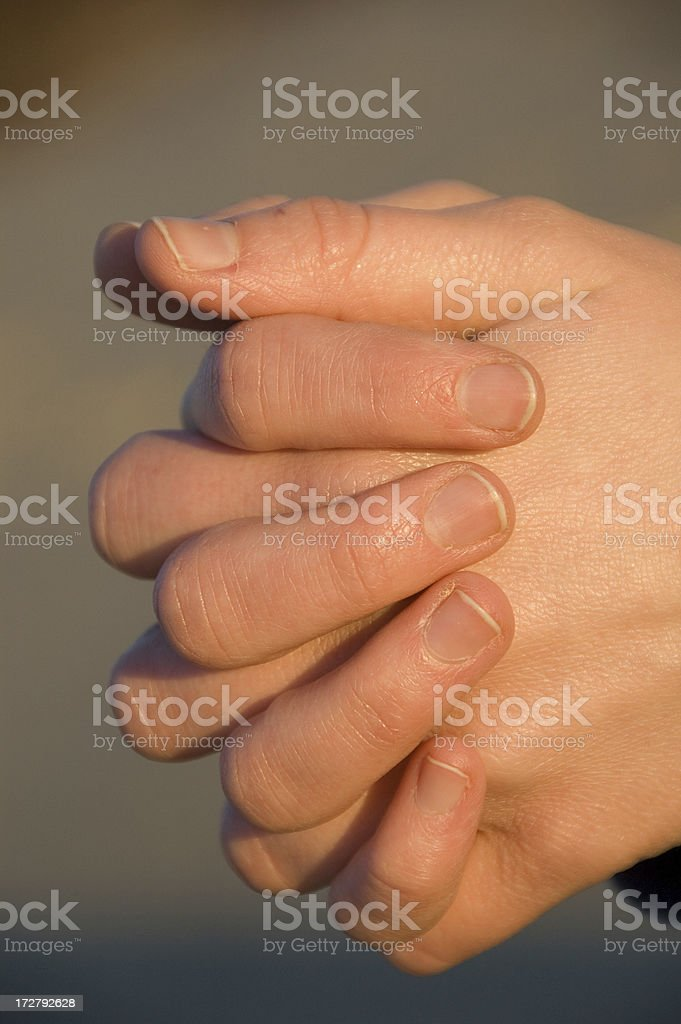 Hands Folded in Prayer 02 royalty-free stock photo