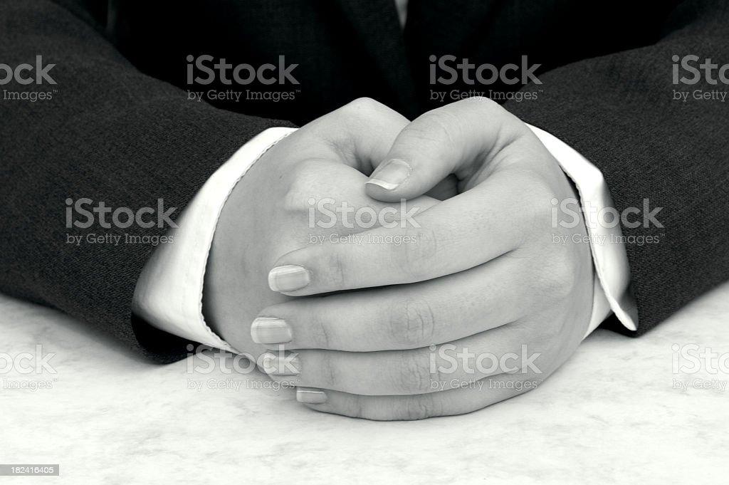 Hands Folded royalty-free stock photo