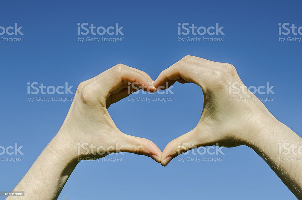 Hands forming a heart royalty-free stock photo