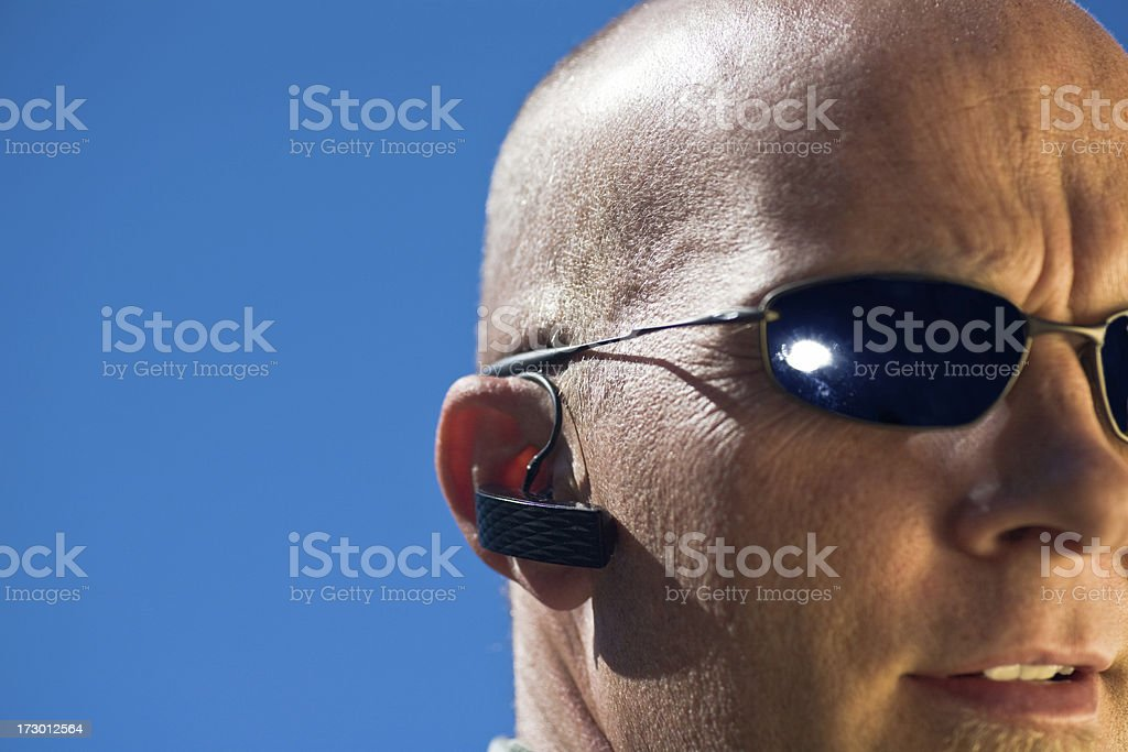 Hands Free  Wireless Phone Use royalty-free stock photo