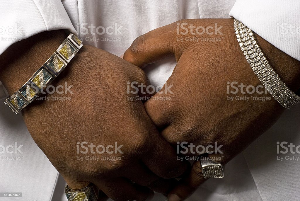 Hands Full Of Bling royalty-free stock photo