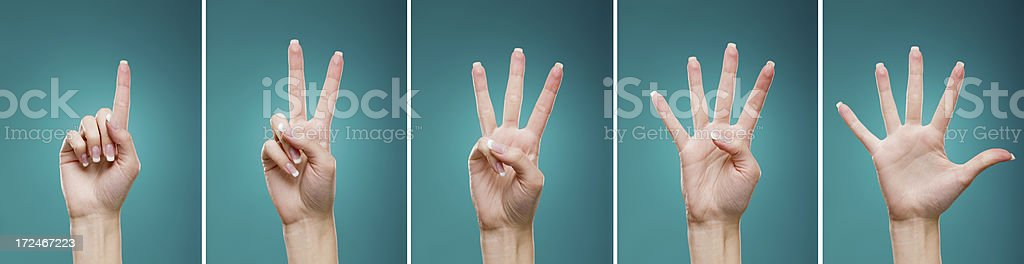 Hands Gesture Set royalty-free stock photo