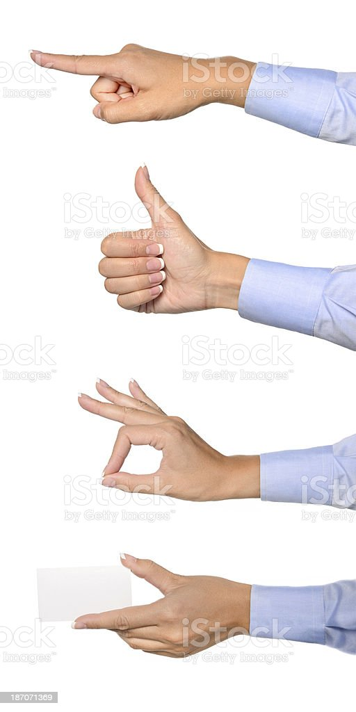 Hands Gestures royalty-free stock photo