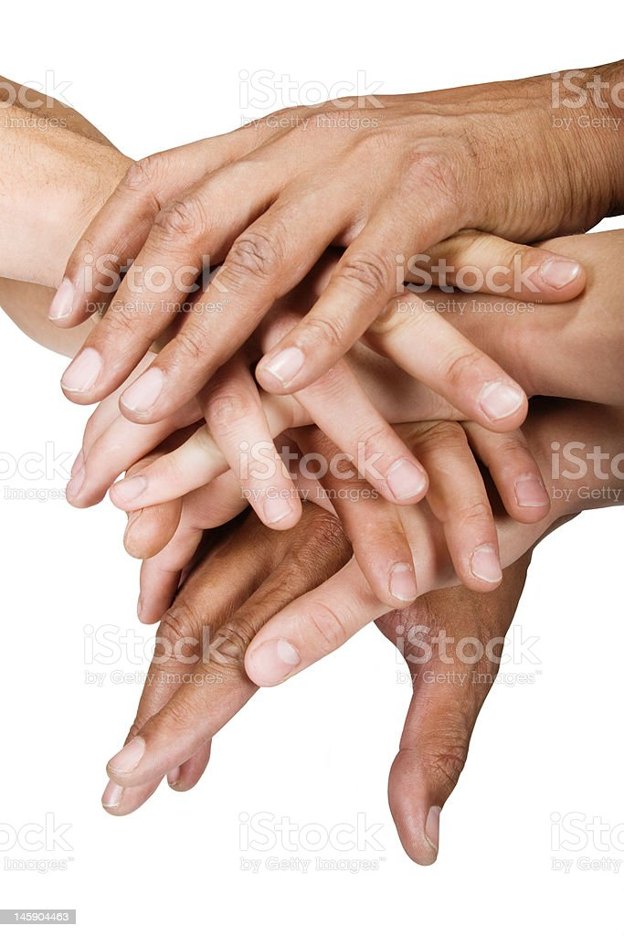 Hands group royalty-free stock photo