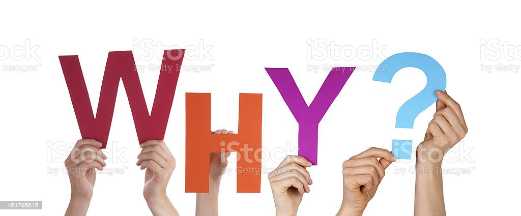 Hands Holding Colorful Why stock photo