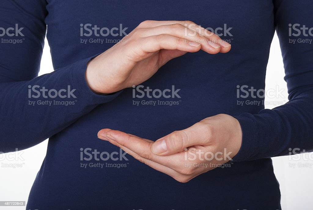 Hands Holding Copyspace stock photo