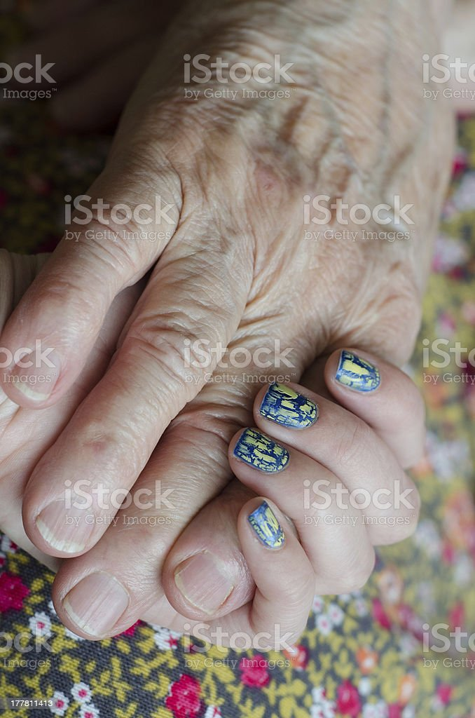 hands holding each other royalty-free stock photo