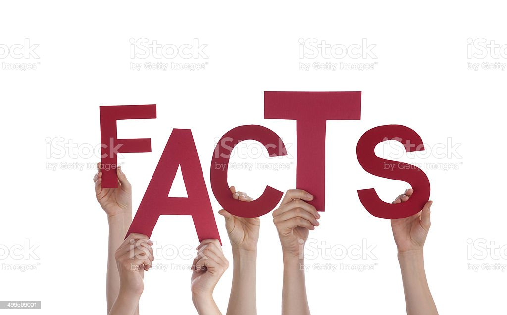 Hands Holding Fact stock photo