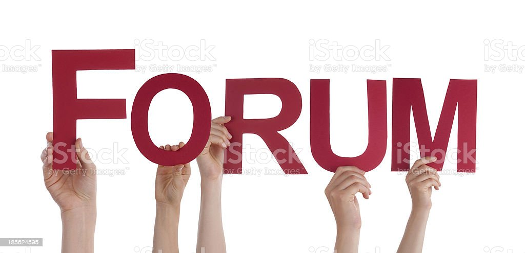 Hands Holding Forum royalty-free stock photo
