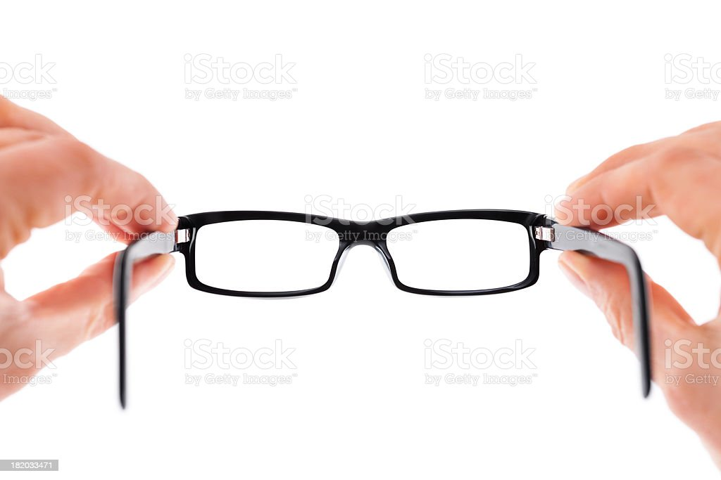 Hands Holding Glasses stock photo